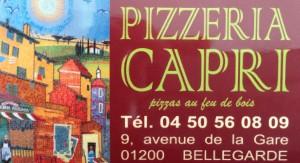 Pizzeria CAPRI à Bellegarde